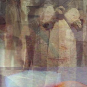 "Susanne Winterling, ""Maske und Material"", 2013. Dye Transfer Print, 55 x 25 cm."
