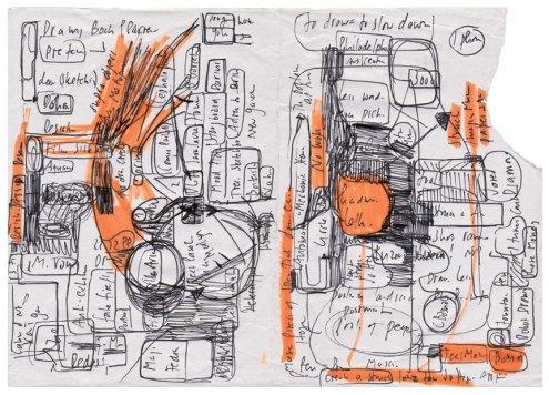 Hans Ulrich Obrist Bandlands Zeichnung