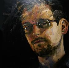 Subash Thebe, The Making and Breaking of Portraits Edward Snowden, 2013
