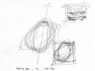 Frank Gehry, Skizze Pierre Boulez Saal, 2012. ©Gehry Partners, LLP.
