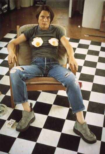 Sarah Lucas, Self Portrait with Fried Eggs, 1996. http://www.tate.org.uk/art/work/P78447